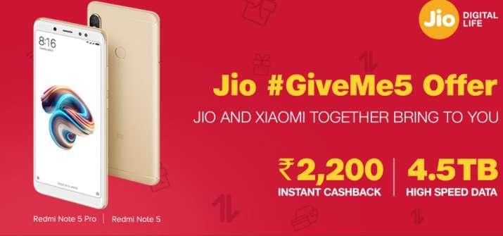 cashback on Redmi Note 5- India TV Paisa