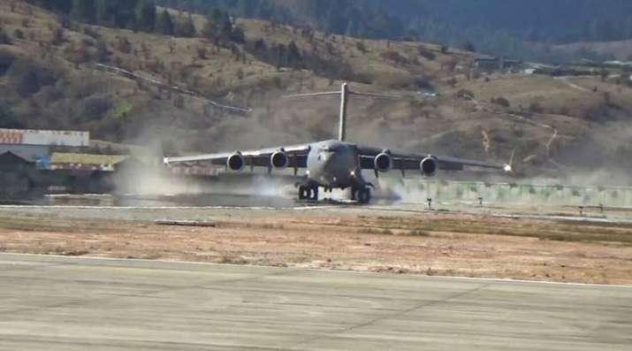 Arunachal-Pradesh-IAF-C-17-Globemaster-carries-out-historic-landing-at-Tuting- Khabar IndiaTV