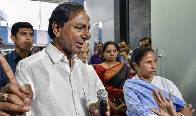 Chandrashekhar Rao and Mamata Banerjee | PTI Photo- India TV