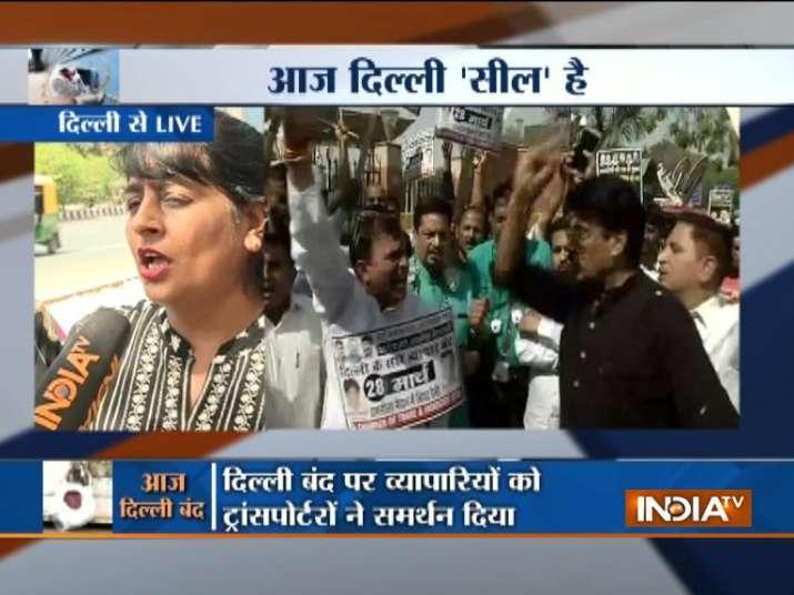 Delhi sealing protest- India TV