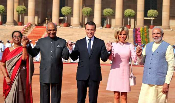 Emmanuel-Macron-hold-talks-with-PM-Modi-in-Hyderabad-House- India TV