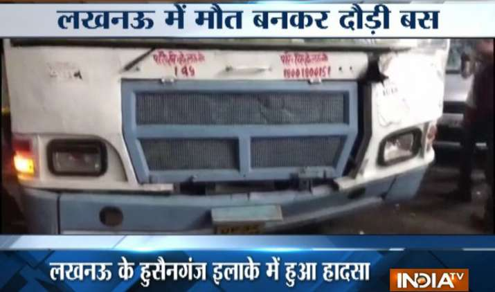 Lucknow-Out-of-control-bus-kills-two-at-Burlington-Crossing- India TV