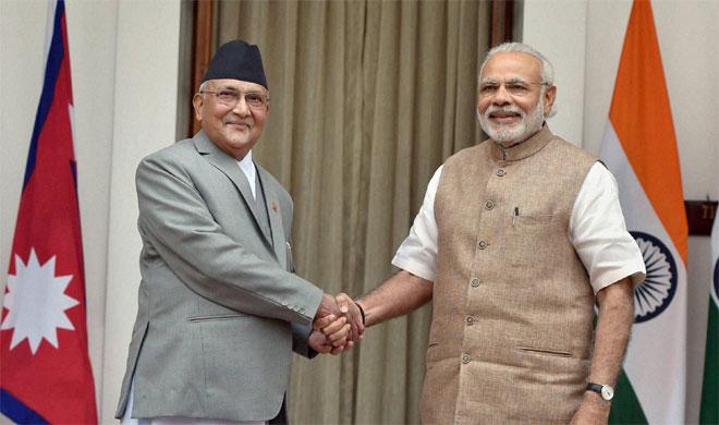 Narendra Modi and Khadga Prasad Sharma Oli | PTI Photo- India TV