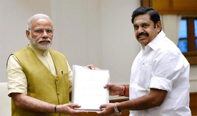 Prime Minister Narendra Modi and Tamil Nadu CM Palanisamy   PTI Photo- India TV