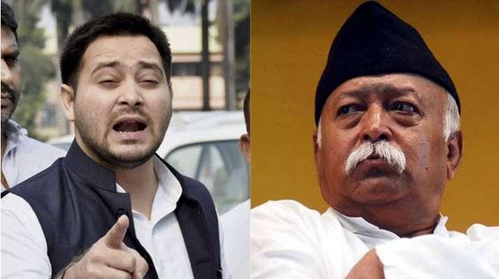 Tejaswi Yadav attacks RSS Chief Mohan Bhagwat on Bihar Violence | PTI Photo- India TV