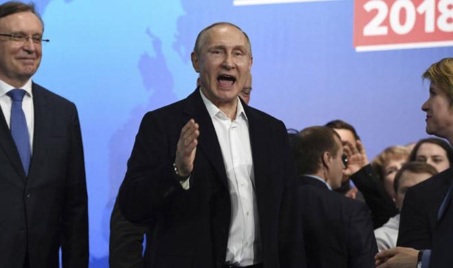 Image result for चुनाव में पुतिन ने हासिल की ऐतिहासिक जीत