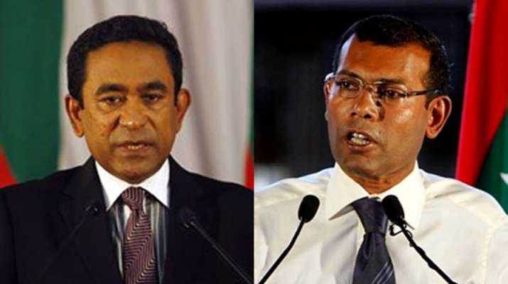 Abdulla Yameen and Mohamed Nasheed | AP Photos- India TV