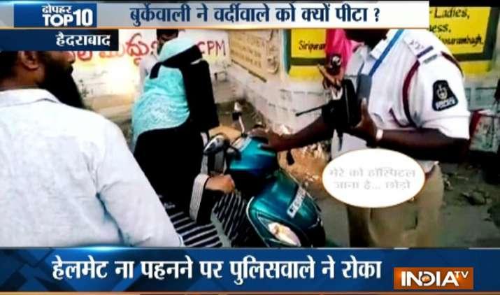 High voltage drama on Hyderabad road- Khabar IndiaTV