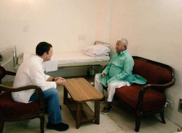 Congress President Rahul Gandhi met RJD Chief Lalu...- India TV