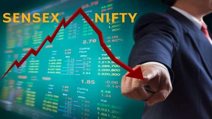Sensex falls below 34K - India TV Paisa