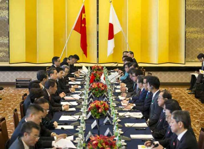 high level economic talks between Japan and China...- India TV