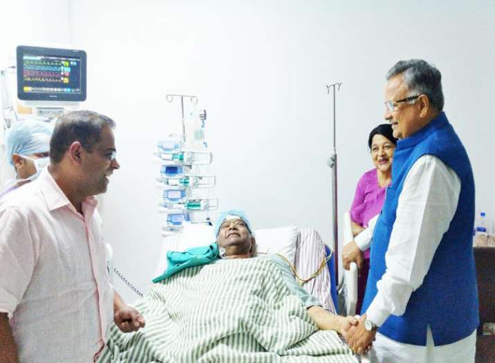 Image result for मुख्यमंत्री अजीत जोगी की बिगड़ी हालत