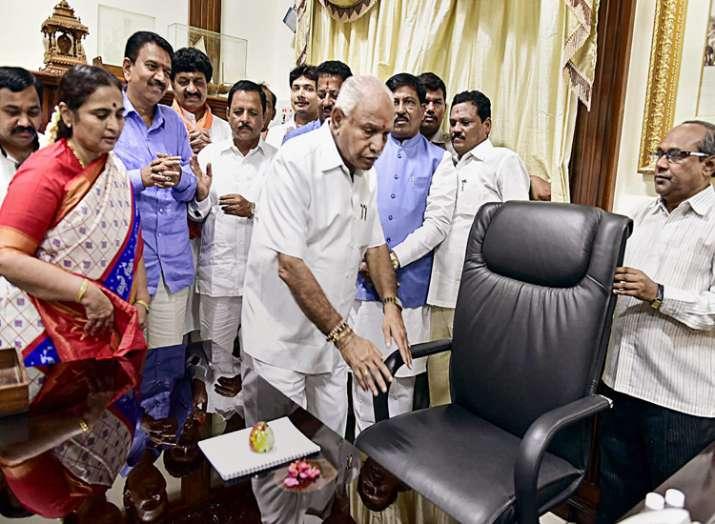 Newly sworn-in Karnataka Chief Minister B. S....- India TV