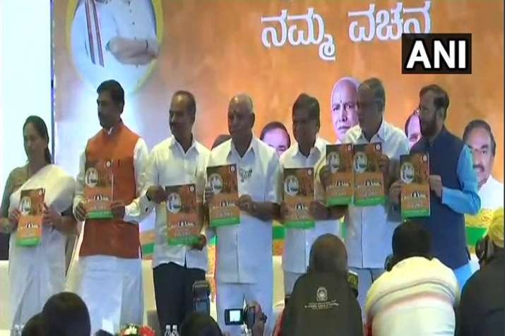 BJP releases manifesto for Karnataka assembly elections 2018- India TV