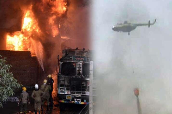 Massive fire at godown in Delhi's Malviya Nagar- India TV