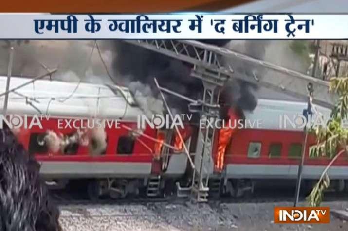 Madhya Pradesh: AP express caught fire in Gwalior- India TV