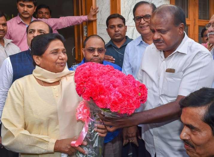mayawati and H D Kumaraswamy- India TV