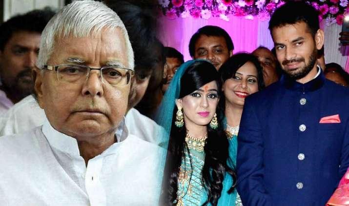 Lalu Prasad Yadav seeks parole to attend son Tej Pratap's wedding with Aishwarya Rai- India TV
