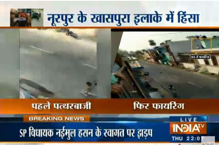 Noorpur voilence- India TV