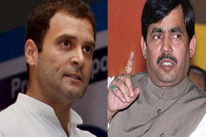 Rahul Gandhi and shahnawaj hussain- India TV