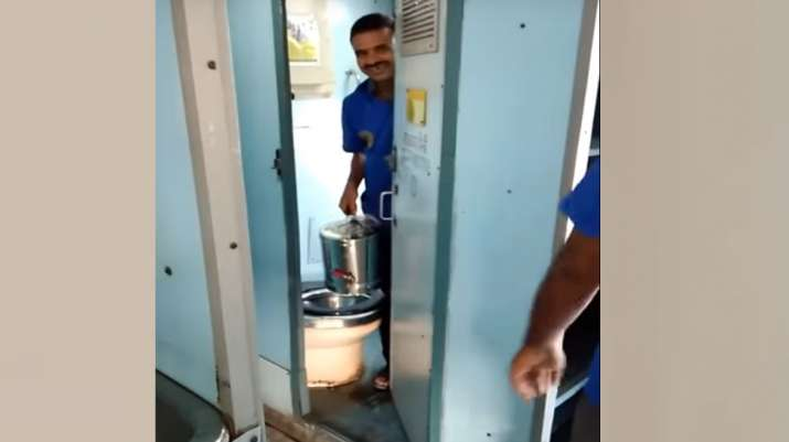 Toilet water being used for tea in Indian Railways trains, video goes viral- India TV