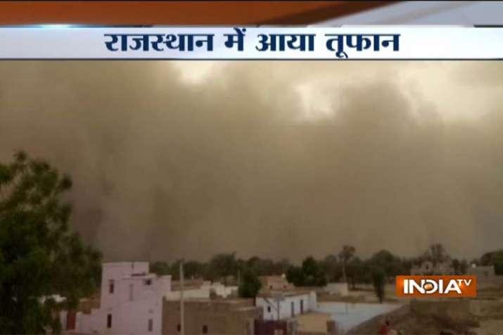 Rajsthan bikaner storm pic- India TV