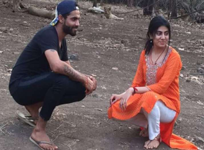 Ravindra Jadeja with wife Reeva Solanki- India TV