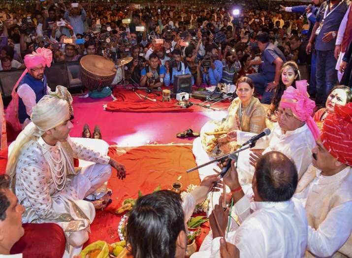tej pratap yadav wedding ceremony- India TV