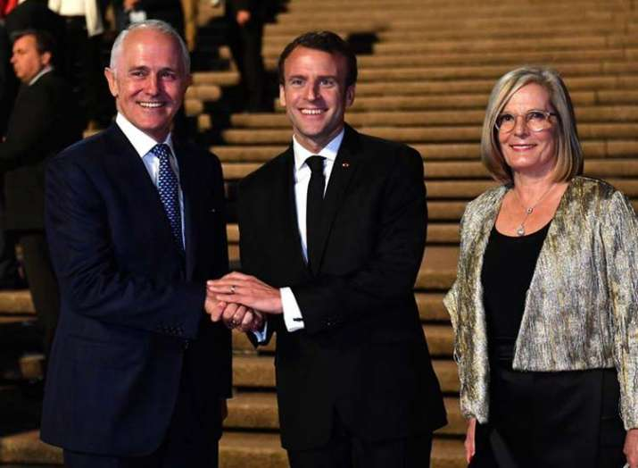 France Macron says Aussie PM wife delicious- India TV