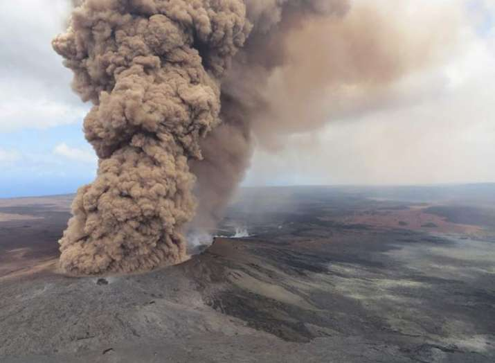Red alert issued as Kilauea eruption spews ash cloud and...- India TV