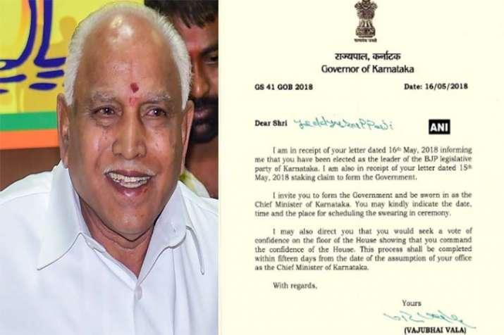 Yeddurappa get letter- Khabar IndiaTV