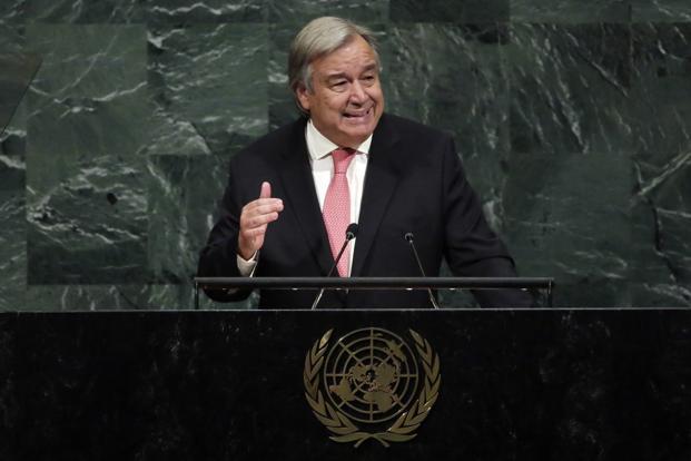 File photo of UN Secretary General Antonio Guterres....- India TV