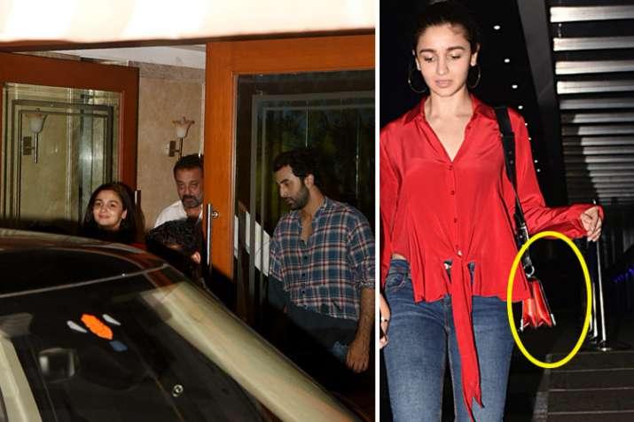 Alia bhatt with ranbir kapoor and sanjay dutta- India TV
