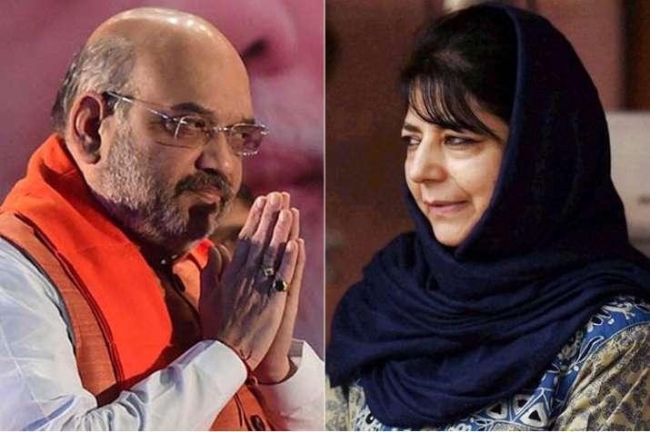 Amit Shah and Mehbooba Mufti | PTI- India TV