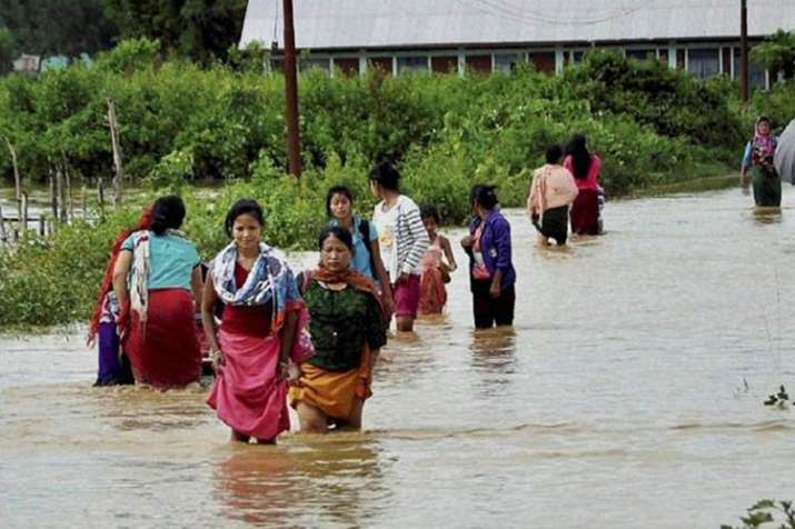 Northeast reels under floods, thousands rendered homeless- Khabar IndiaTV