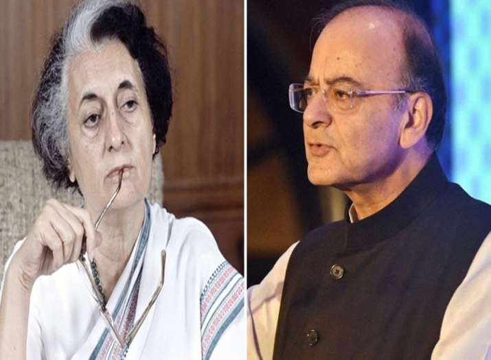 indira gandhi and arun jaitley- India TV