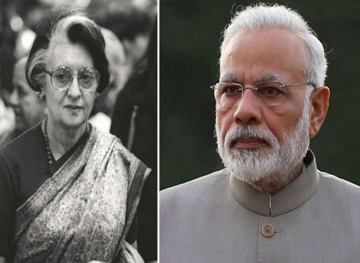 indira gandhi and pm modi- India TV