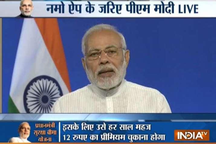 LIVE: पीएम मोदी नमो एप्प के जरिए सामाजिक सुरक्षा योजनाओं के लाभार्थियों से कर रहे हैं बात- India TV