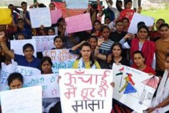 Madhya Pradesh: Girls sent to jail for demanding relaxation in height criteria for police recruitmen- Khabar IndiaTV