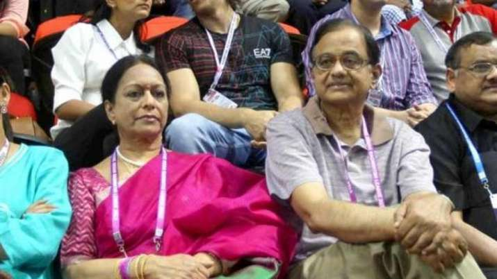 P Chidambaram with his wife Nalini Chidambaram- India TV Paisa