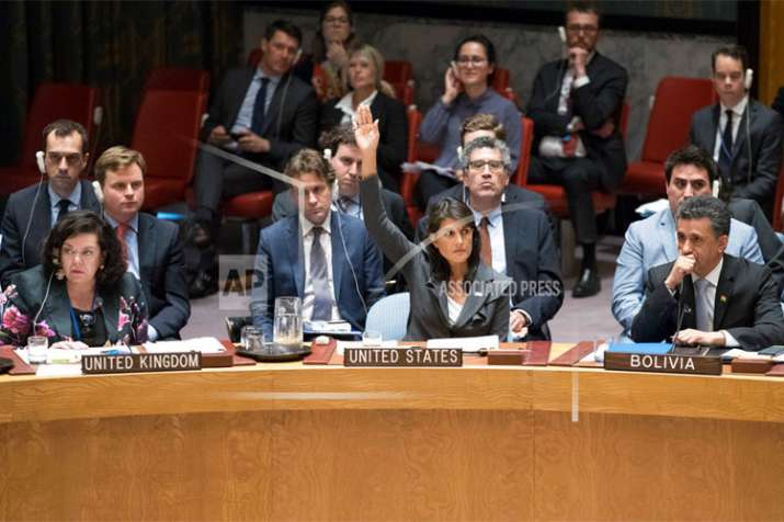 United States totally isolated defending Israel on Palestine UNSC resolutions | AP- India TV