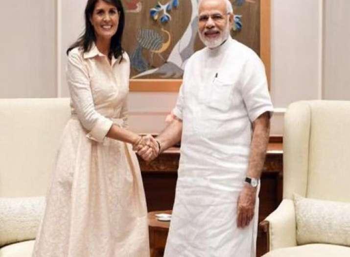 Nikki Haley and PM Modi- India TV