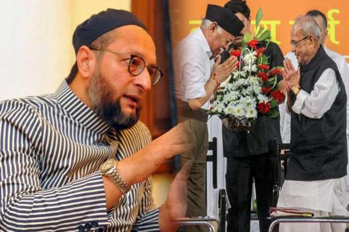 AIMIM leader Asaduddin Owaisi flays Pranab for lauding RSS founder- India TV