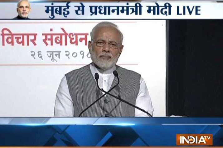 आपातकाल देश का 'काला दौर' था: प्रधानमंत्री नरेंद्र मोदी- India TV