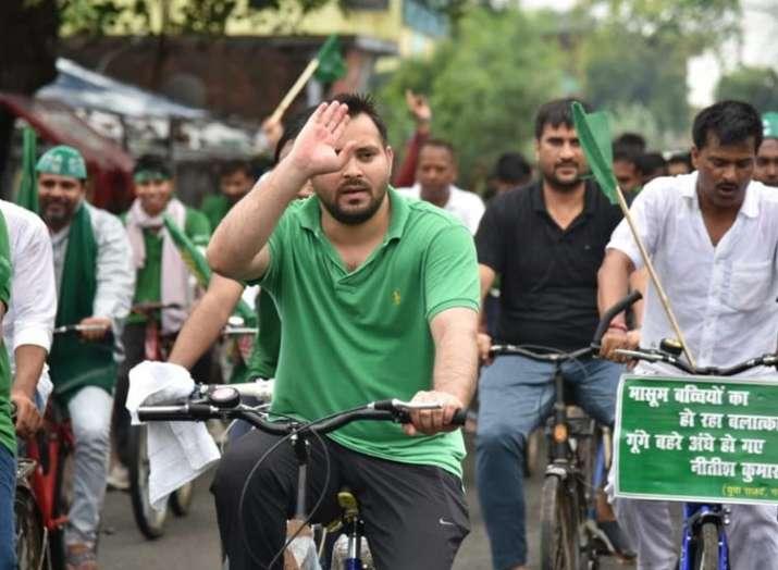 तेजस्वी यादव, बिहार, तेजस्वी यादव साइकिल रैली- India TV