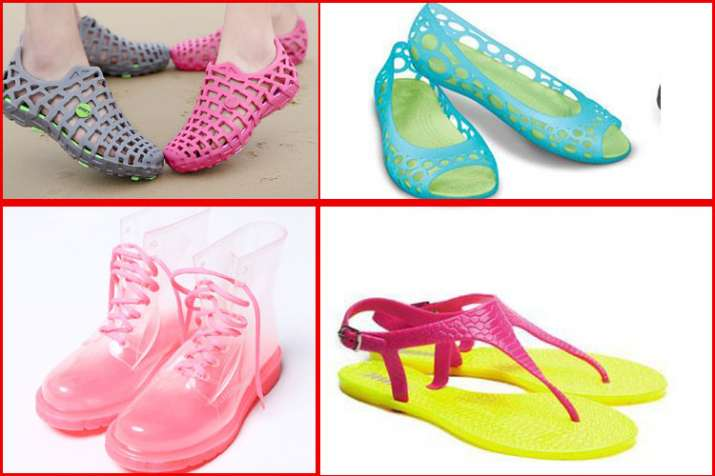 828ed089a Monsoon fashion stylish waterproof footwear in hindi  Monsoon ...