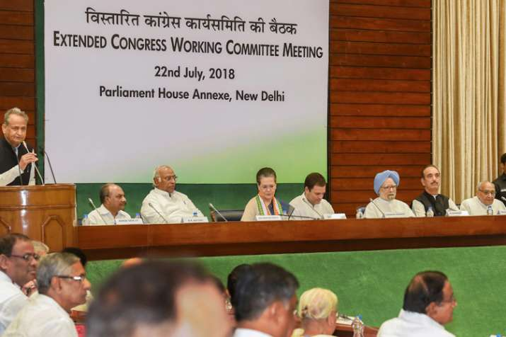 Extended Congress Working Committee (CWC) meeting, in...- India TV