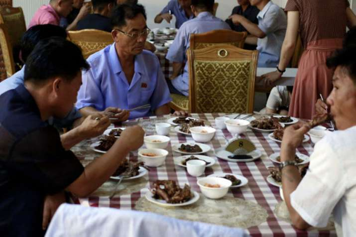House of Sweet Meat, a restaurant specialized in dishes made of dog meat, in Pyongyang | AP- India TV