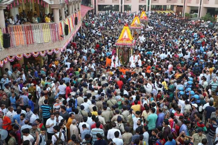 अहमदाबाद: शुरू हुई भगवान जगन्नाथ की रथ यात्रा, PM मोदी ने भेजी भोग सामग्री- India TV