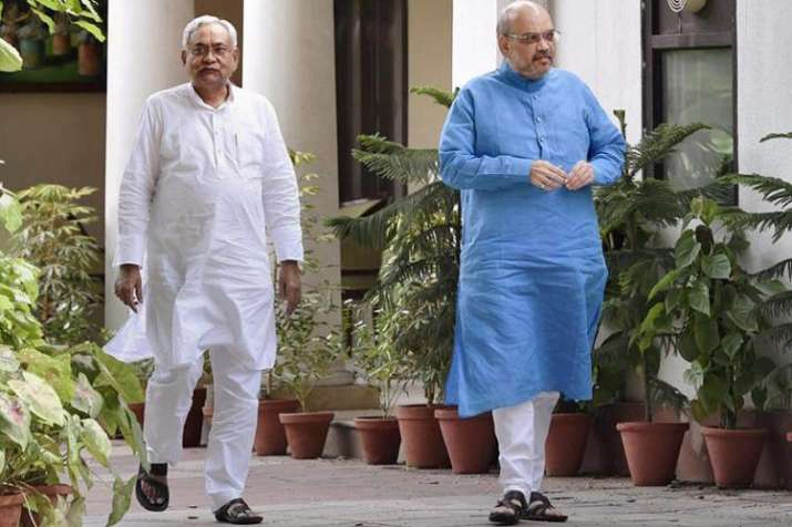 nitish kumar and amit shah- Khabar IndiaTV